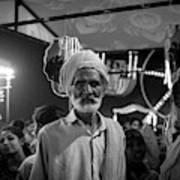 The Many Shades Of Delhi - Turbaned Man Art Print