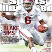 The Mayhem Begins The Case For Blake Sims And Alabama In Sports Illustrated Cover Art Print