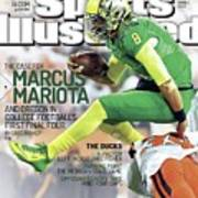 The Mayhem Begins The Case For Marcus Mariota And Oregon In Sports Illustrated Cover Art Print