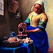 The Milk Maid Art Print