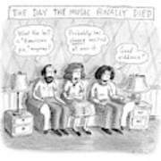 The Music Finally Died Art Print