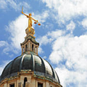 The Old Bailey, Central Criminal Court Art Print