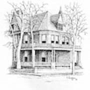 The Old Governors Mansion,  Helena, Montana Art Print