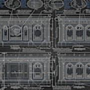 The Resolute Desk Blueprints - Chalkboard Art Print