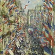 The Rue Montorgueil In Paris  Celebration  Art Print