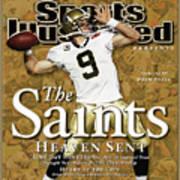 The Saints, Heaven Sent Super Bowl Xliv Champions Sports Illustrated Cover Art Print