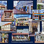 The Shops Of Provincetown Cape Cod Massachusetts Collage Pa Art Print