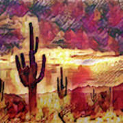 The Sonoran Saguaro  Art Print