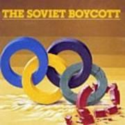 The Soviet Unions Boycott Of Los Angeles Olympics Sports Illustrated Cover Art Print