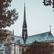 The Spire - Cathedral Of Notre Dame Paris France Art Print