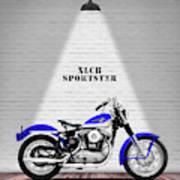 The Sportster Vintage Motorcycle Art Print