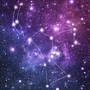 The Stars Constellation Of Orion Art Print