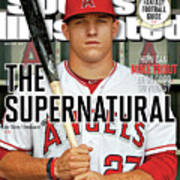 The Supernatural How Can Mike Trout Be So Good So Young Sports Illustrated Cover Art Print