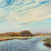 The Susaa River At Naestved, Denmark Art Print