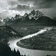 The Tetons - Snake River Art Print