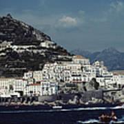 The Town Of Amalfi Art Print