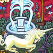The Unicorn And Garden Art Print