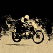 The Vintage Motorcycle Racer Art Print