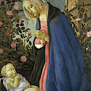 The Virgin Adoring The Sleeping Christ Child Art Print