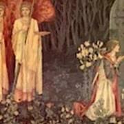 The Vision Of The Holy Grail To Sir Galahad Sir Bors And Sir Perceval Art Print