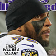 There Will Be A Valiant Last Stand Super Bowl Xlvii Preview Sports Illustrated Cover Art Print