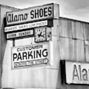 These Shoes Alamo Shoes Art Print