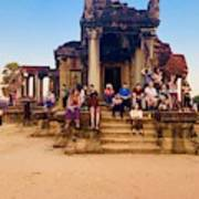 They Come To See Angkor Wat, Siem Reap, Cambodia Art Print