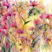 Thistles Impression Art Print