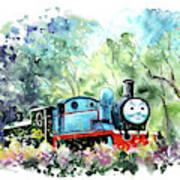 Thomas The Tank Engine In Buckfastleigh Art Print