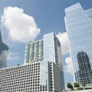 Three Modern Buildings In Different Art Print