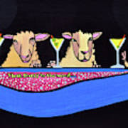 Three Sheeps To The Wind  Art Print