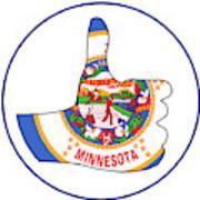 Thumbs Up Minnesota Art Print