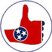 Thumbs Up Tennessee Art Print