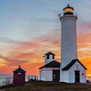 Tibbetts Point Light At Sunset Art Print