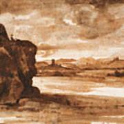Tiber Landscape North Of Rome Wi  Art Print