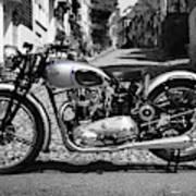 Tiger T100 Vintage Motorcycle Art Print