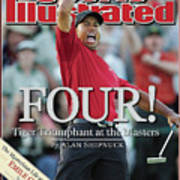 Tiger Woods, 2005 Masters Sports Illustrated Cover Art Print