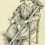 Tiny Tim From A Christmas Carol By Charles Dickens Art Print