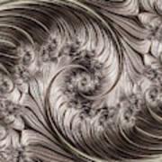 Titanium Double Fractal Spiral Art Print