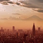 Tokyo And Mount Fuji Art Print
