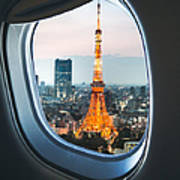 Tokyo Skyline With The Tokyo Tower Art Print