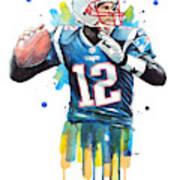 Tom Brady, Patriots, Nfl Art Print