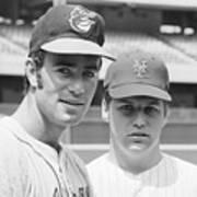 Tom Seaver And Jim Palmer At Baseball Art Print