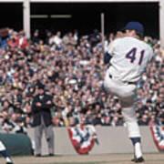 Tom Seaver Pitching During Baseball Game Art Print
