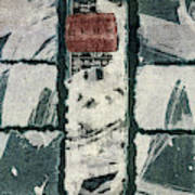 Torn Squares Collage Art Print