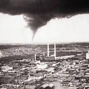 Tornado Moving Through Dallas Art Print