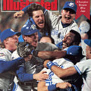 Toronto Blue Jays Joe Carter, 1992 World Series Sports Illustrated Cover Art Print