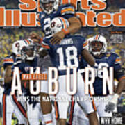 Tostitos Bcs National Championship Game - Oregon V Auburn Sports Illustrated Cover Art Print
