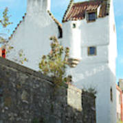 towerhouse and turret at Culross Art Print
