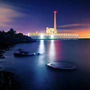 Toxic Beach With Power Plant Art Print